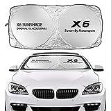 Parasole Auto Automobile parabrezza Sun Shade Cover Compatibile con BMW X5 E70 F15 G05 x1 f48 x3 f25 x6 E71 x3 f25 x6 E71 x2 f39 x4 f26 x7 G07 Accessori Anti Anti UV Riflettore Paralume in rete per au