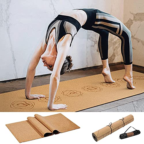 Esterilla Yoga Natürliche Kork Tpe Komplexe Yoga Mate 72 * 24 Zoll Nicht-Sligy Gimny Sport Deporte Abnehmen Balance Comprencia Pads 6Mm Pilates Übung Matten-13_Cork