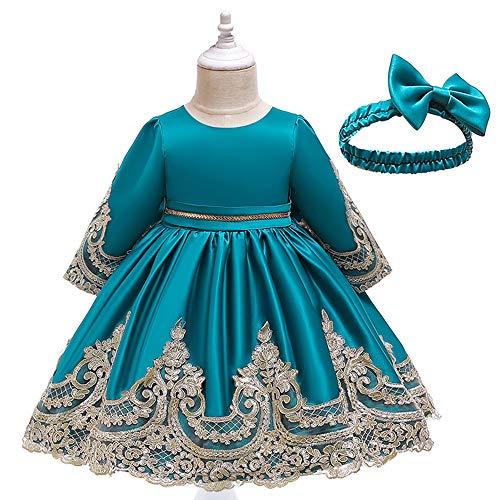 Conjunto de trajes de fiesta para niñas - perfecto para carnaval y ocasiones especiales - 3 colores y 5 tamaños diferentes (Estatura 120, Azul)