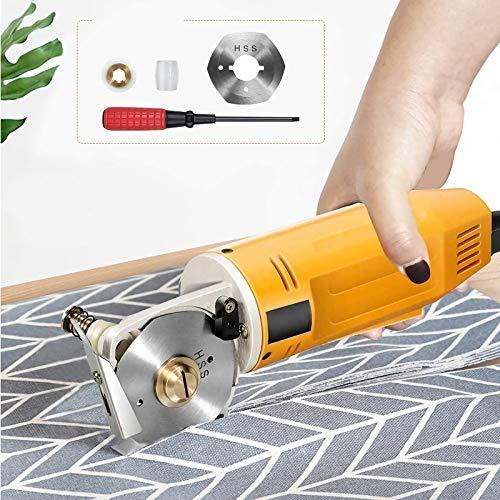 KKTECT Cortador de tela rotatorio eléctrico Mini Máquina de corte manual de cuchillas redondas de 2y tela Tijeras de corte de tela eléctricas portátiles Ropa Zapatos Sombreros Cultivo