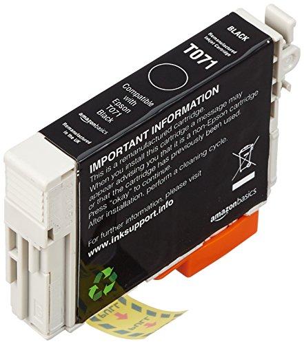 AmazonBasics Cartouche d'encre reconditionnée pour Epson T071 Noir