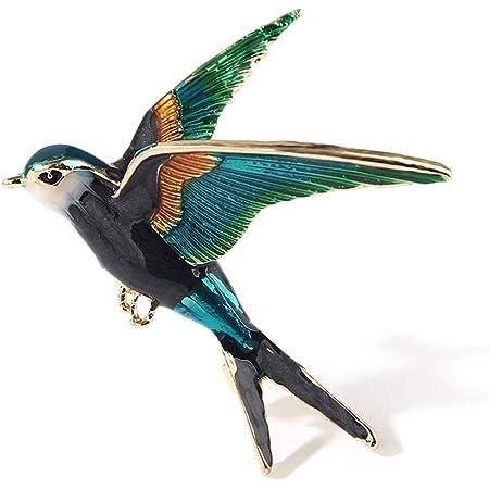 YAZILIND aleación de Dibujos Animados pájaro Pecho Gota Aceite de Descuento en Broche alfiler Mujeres Accesorios de Ropa Corsage cumpleaños Regalo joyería