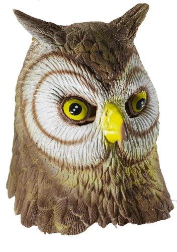 Forum Novelties Deluxe Unisex Latex Owl Mask, Multi Colored, One Size