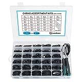 Portátil 1225 kits de la junta tórica + 4 Herramientas de sello NBR Junta de anillo de goma 32 Tallas Juego de sello de anillo de juntas tóricas para grifos monomando y fontanería ( Color : Black )