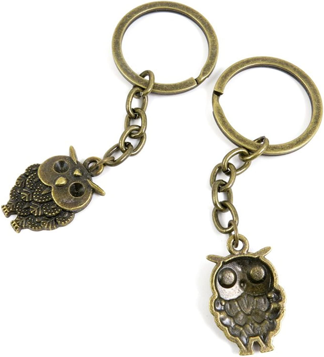 160 Pieces Fashion Jewelry Keyring Keychain Door Car Key Tag Ring Chain Supplier Supply Wholesale Bulk Lots N9ZN8 Owl