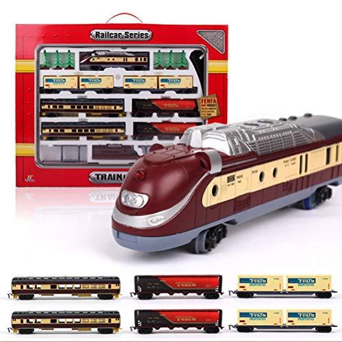 ANAN 55 Partes maquetas de Trenes, Locomotoras a Vapor con luz y...