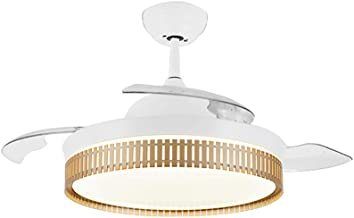 Nordic Invisible Ceiling Fan Light 3-Color Dimming 36W*2 Led, Modern Minimalist Living Room Dining Room Electric Fan Chand...