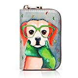 APHISON RFID Credit Card Holder Wallets for Women Leather Cartoon Patterns Zipper Card Case for Ladies Girls / Gift Box 012