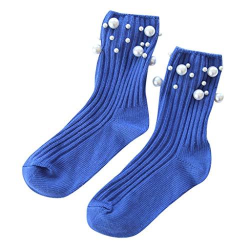 Damen Wintersocken Strümpfe Schöne Cute Pearl Atmungsaktive Baumwoll socken Lässige Socken Athletische Sneaker Socken Sport Laufsocken URIBAKY