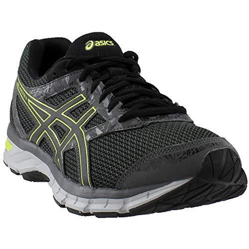 ASICS Men's Gel-Excite 4 Running Shoe, Dark Grey/Neon Lime, 12 M US