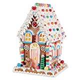 One Holiday Way 14-Inch Whimsical Lighted Gingerbread Candy House – Tabletop Christmas Decoration
