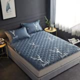 MKXF Colchón del futón del Piso, cojín para Dormir Plegable del Topper del colchón de la Estera del Piso para la Cama casera Que acampa