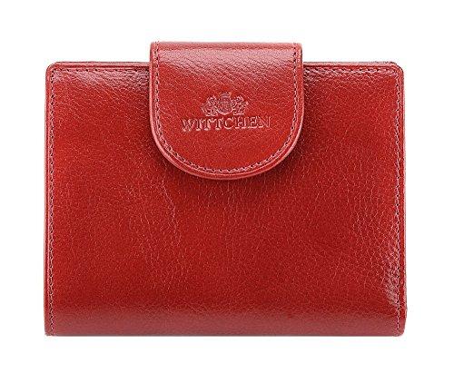 Elegante Geldbörse Damen/Geldbeutel Portemonnaie aus Leder 12x9.5cm 21-1-362-3