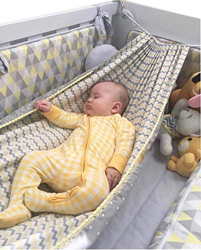 Baby Schaukelstuhl Infant Squat Sitz Kinder Schaukel Baby Cartoon Hängematte Home Outdoor Abnehmbare Tragbare Bequemes Bett Kit Infant Hängematte-Gelb