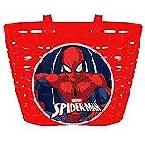 Marvel - Cesta Bicicleta Infantil - Spiderman - Rojo