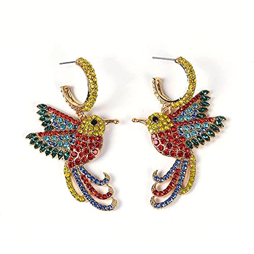 Explosive alloy studded small hummingbird earrings hot sale fashion personalized earrings