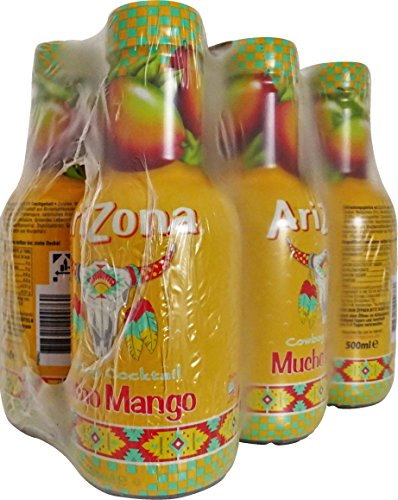Arizona Cowboy Cocktail Mucho Mango, 6er Pack, EINWEG (6 x 500 ml)