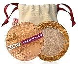 ZAO Pearly Eyeshadow 105 sandgold beige Lidschatten schimmernd / Perlglanz in nachfüllbarer Bambus-Dose (bio, Ecocert, Cosmebio, Naturkosmetik)