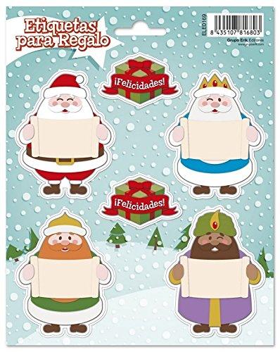 Etiquetas Navidad Nombre Reyes Magos Marca Grupo Erik