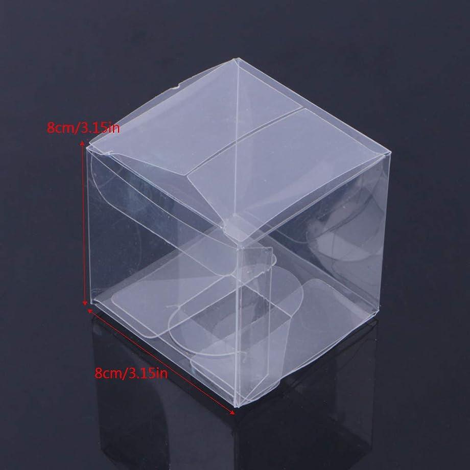 難破船バイオレット貢献するSimpleLife 10ピース結婚式透明キューブの好意のボックス甘いキャンディケーキのギフトバッグ2サイズ