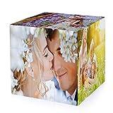 InspirsPanda MultiPhoto Rubik's Cube Game,Custom 6 Photo Cube para marcos de fotos Rubik's Cube,Custom Photo Puzzle Game,Cubo de Rubik giratorio Regalo para amor, amigos, familia, decoración del hogar