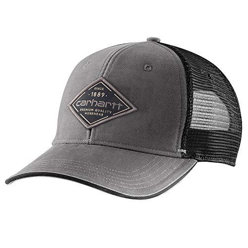 Carhartt Men's Force Mesh Back Graphic Cap, Gravel, OFA