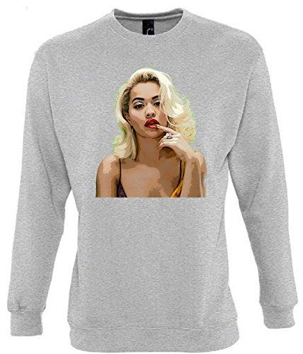 Rita Ora Funny Mens & Ladies / Herren & Damen Unisex Sweatshirts (S