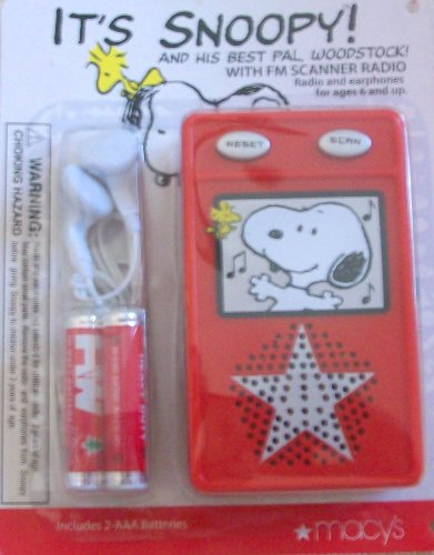 Snoopy and His Best Pal Woodstock Fm Scanner Radio with Earphones