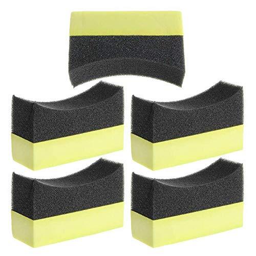 Hopowa Cojín de Esponja para neumáticos 5 Piezas de Esponja automática, Cojines de Esponja de Espuma para el Cuidado de los neumáticos Profesionales