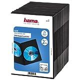 Hama 51185 - Carcasa para DVD (25 unidades), negro