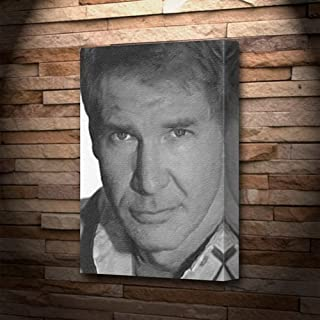 HARRISON FORD - Canvas Print (LARGE A3 - Signed by the Artist) #js004