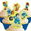 12 x Vorgeschnittene und Essbare Smurfs Kuchen Top