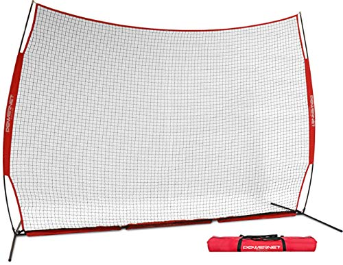 PowerNet 12 ft x 9 ft Sports Barrier Net | 108 SqFt of Protection | Safety Backstop | Portable EZ...