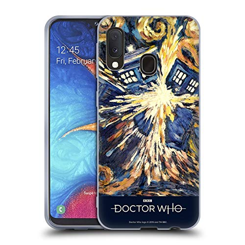 Head Case Designs Offizielle Doctor Who Van Gogh Tardis Klassische Panne Poster Soft Gel Huelle kompatibel mit Samsung Galaxy A20e (2019)