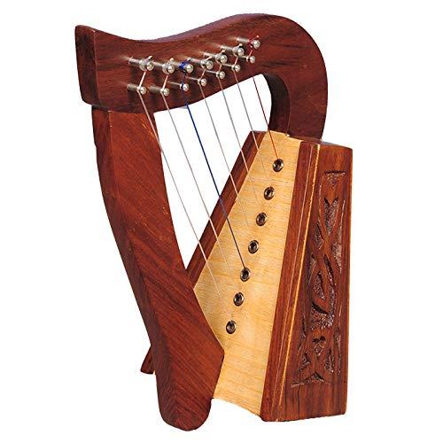Muzikkon 28 string claddagh harp palisander irische hebel harfe keltische