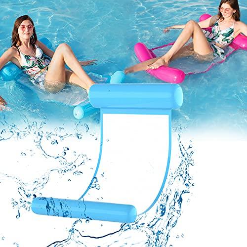 HENGBIRD Uppblåsbar simsäng, luftmadrass pool uppblåsbar hängmatta vatten hängmatta 4-i-1 loungefåtölj pool lounge luftmadrass pool uppblåsbar hängmatta pool uppblåsbar vattenhängmatta