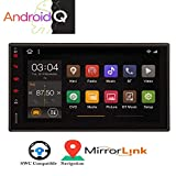 Android 10.0 Double 2 Din Car Stereo Bluetooth Car Radio MP5 Video Player 7' Capacitive Touchscreen Audio FM AM RDS Receiver GPS Navigation System Support Mirror Link WiFi USB SD CAM-in