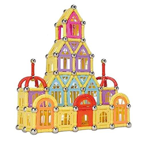 kids toys Puzzle magnétique pour Enfants, 400 pièces de Fer magnétique, Blocs de Construction pour Enfants, Jouets assemblés, Puzzle 3-6-7-8-9-10 Ans garçon en boîte, Couleurs aléatoires