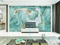 XSJ 壁紙カスタム壁画ヨーロッパの抽象的な青い大理石の背景papel de parede壁紙論文の装飾3d壁紙-400 * 280CM