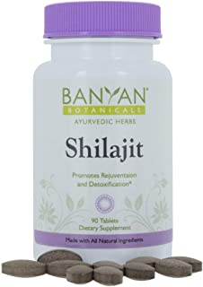 Banyan Botanicals Shilajit - Genuine Black Resin Mineral Pitch - 90 Tablets - Sustainably Sourced - Promotes Vibrant Energ...