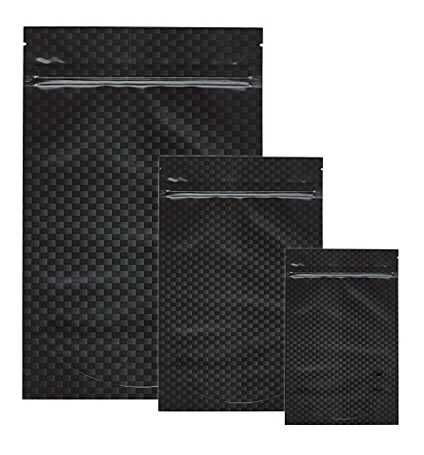 Carbon Fiber Smell Proof Bags by Cannaline (5, Large)