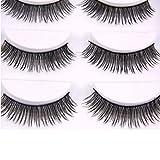 Laimeng,New 5 Pairs Long Thick Soft Handmade Fake False Eye Lash Makeup Extensions