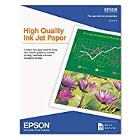 Epsonインクジェット用紙、マット、8–1/ 2x 11、100枚/パック