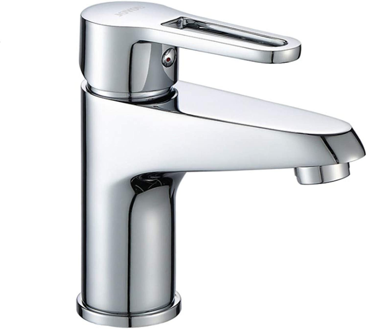 Waste Mono Spout Basinbathroom Washbasin Hot and Cold Faucet Bathroom Counter Basin Faucet