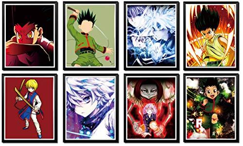 Hunter X Hunter Anime Fan Collection Gon Killua Kurapika - Póster (8 x 10 pulgadas), sin marco, 8 unidades