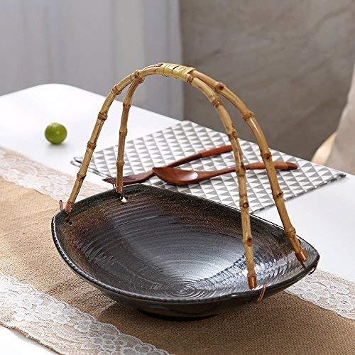 XUSHEN-HU cerámica Alivio vajilla vajilla de cerámica Bol de Vidrio de la European Hotel Restaurante vajilla con un Gris Bowl, 1 Torta de Placas. Clásico