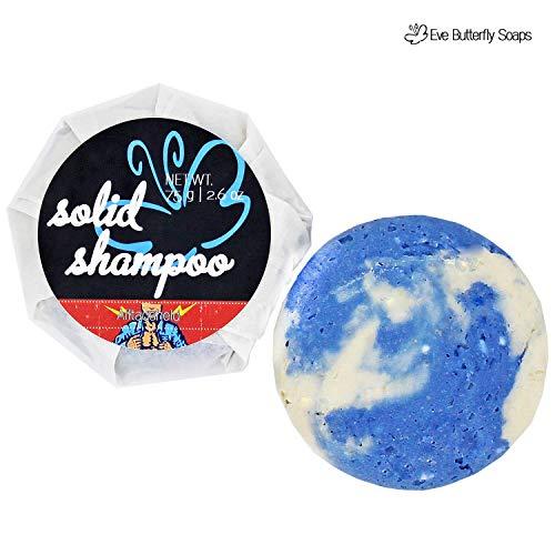 Festes Shampoo Alltagsheld N°1, 75 g, normales Haar, sulfatfrei, fester Shampoobar aus mildem Tensid | sportive frische Zitrusnote, Herznote aus Blauer Agave