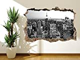 New York Black and White wall sticker wall mural empire state (17926178) (30cm x 20cm)