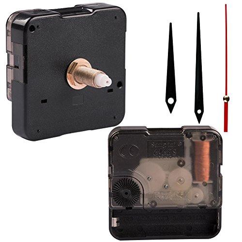 URlighting Clock Movement Quartz Clock Mechanism Replacement DIY Repair Kit with Clock Hands 1/2 Inch Maximum Dial Thickness, 15/16 Inch Hand Shaft Length, for Repairing, Replacing or Making a Clock