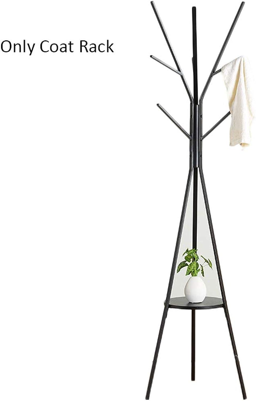 Metal Coat Rack Floor Rack Bedroom Nordic Simple Rack greenical Bag Rack Clothes Rack Creative Hanger (color   Black)